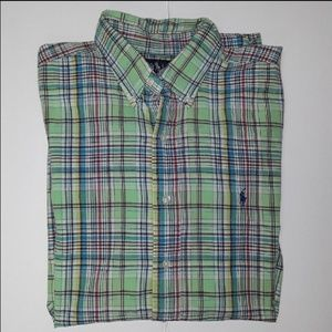 Ralph Lauren Blake Madras Plaid Short Sleeve Shirt